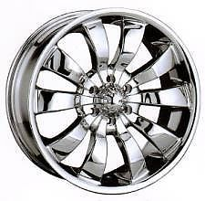"18"" Mondera 18 inch Evolution 18x8 6 Lug Chrome 6x5 Chevy 30 Rims Wheels Set"