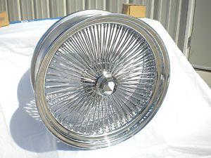 "18"" inch Chrome Genuine Player Wire Wheel New Set 4 Dayton Style 100 Spoke Rims"