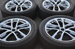 "18"" Nissan Altima Maxima PVD Chrome Wheels Rims Tires 2009 2013 62521"