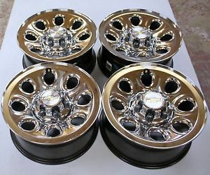 "New Take Off 07 2013 Chevy Silverado Factory GM Chrome Clad 17"" Wheels Rims"