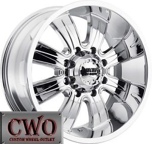 17 Chrome MKW M82 Wheels Rims 8x165 1 8 Lug Chevy GMC 2500 HD Dodge RAM 2500
