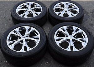 "17"" Ford Fusion PVD Chrome Wheels Rims Tires 2011 2012 3871"