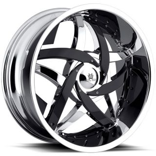 "20"" Chrome Hipnotic C Note Wheels 5x114 3 5x120 40 Offset Lowest Price"
