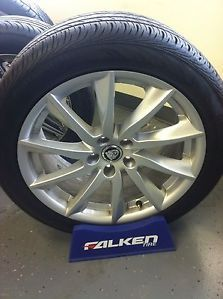 "Jaguar XF 18"" 2011 13 Factory Wheels Rims Tires Set of 4 Continental Tires"