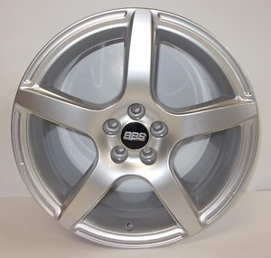 "Single New Sample BBs Wheel Rim 8"" x 17"" 8JX17H2 5x100 VW 5 Spoke w Center Cap"