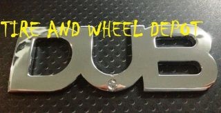 1 Dub Emblem Chrome New Badge Rims Wheels Tires  See My Store
