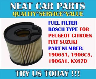 Fuel Filter Bosch Type for Peugeot 206 306 307 406 607 806 2 0 HDI 1906C5
