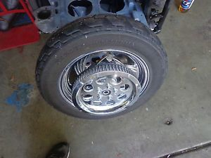 Harley Custom Chrome Billet Rear Wheel with Harley Davidson Dunlop Tire