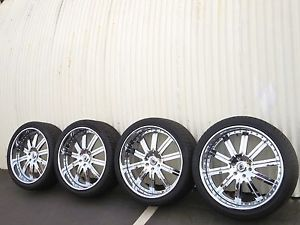 "24"" Chrome asanti Wheels Cadillac Escalade GMC Denali GM Chevy Tahoe Forgiato"