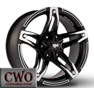 17 Black Rdr Trek Wheels Rims 6x135 6x139 7 6 Lug Ford F 150 Expedition CWO