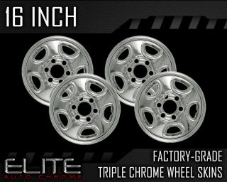 "1999 2005 Chevy Suburban 16"" Chrome Wheel Skin Covers"
