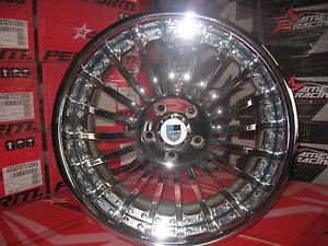 "19"" Used asanti Wheel Set Chrome 5x120 Staggered"