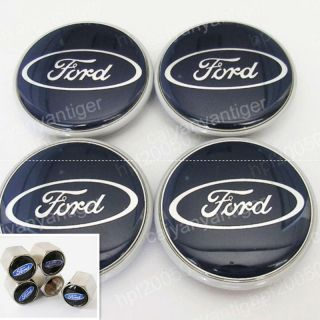 Ford Foucs Wheel Center Caps Hub Covers 63mm Gift Tire Valve Stems Caps Covers