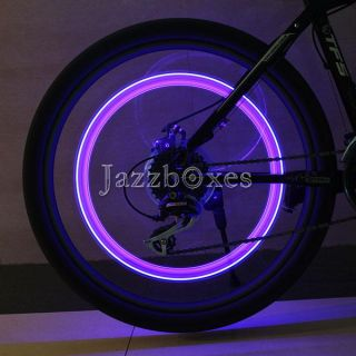 2X LED Bike Motorcycle Wheel Tyre Tire Valve Caps Covers Neon Lights Skull Style