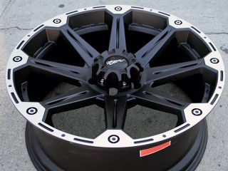 "Dick Cepek Torque 22"" Black Rims Wheels Montero 6x5 5"