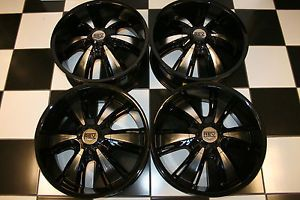 "20"" Black Machined New Aftermarket Custom Rev"" 955 MB Wheels Rims Set 4"
