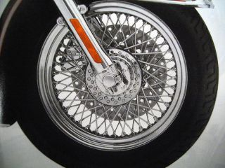 Harley Davidson Chrome 80 Spoke Laced Custom Wheel Front