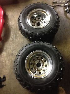 Honda Foreman Rubicon TRX 500 TRX500 Rear Wheels Rims 25x10 12 Dunlop ITP Tires
