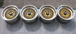 4 BBs Mahle Cross Spoke Alloy Wheels BMW 7x14 5x120 E3 E9 E12 E23 E24