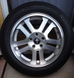 "2005 2009 Ford Mustang GT Alloy Wheels w Pirelli Nero Zero 235 55 17"" Tires"