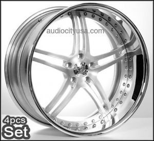 22 inch Custom Forged 3pc Wheels Rims for BMW Camaro Range Rover Mercedes