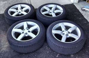 "Chevy Camaro 19"" Wheels and Tires 245 50 19 Pirelli w TPMS Center Caps"