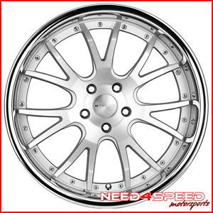 "20"" Mercedes Benz W220 S350 S430 S500 Stance ST1 Silver Wheels Rims"