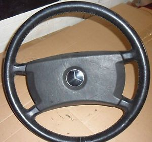 Mercedes W126 Sec Sel SE Black Leather Steering Wheel 380 500 500 420