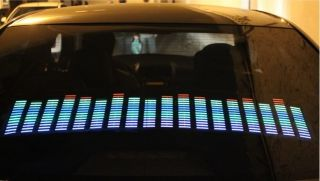 "20"" Multicolor Car Sound Music Activated Equalizer Flash Light Rhythm Lamp"