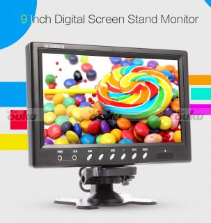 "L0693 9"" HD LCD Digital Car TV Monitor Screen Standalone Headrest AV Great Sale"