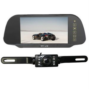 "7"" TFT LCD Car Reverse Rearview Color Mirror Monitor Car Backup Camera System X1"