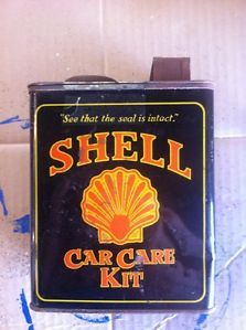 Old Shell Car Care Kit in Can not Sign Gas Oil