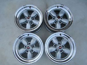 4 American Racing Daisy Wheels S200's Chevy GM 4 3 4 Bolt RARE Gasser Rims