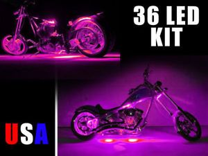 Pink 36 LED Accent Light Kit for Any Bike Motorcycle