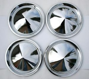 Vintage Hub Cap Set Caps Moon Trailer Boat camper Rat Hot Rod Truck Car Rim Part