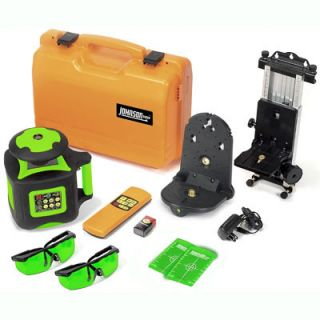 JohnsonLevelandTool Electronic Self Leveling Horizontal and Vertical Rotary Laser Set with GreenBrite Technology