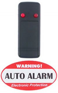 Auto Theft Deterrent Alarm Warning Flashing Red LED with Window Warning Stickers