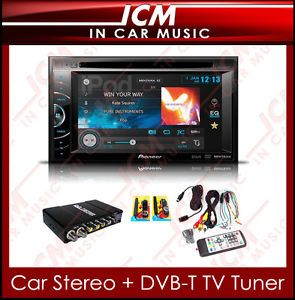 Digital TV Tuner Pioneer Double DIN Stereo Car CD DVD Radio Aux  USB Player