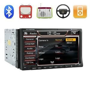 "HD Double 2 DIN 7""in Dash Car Stereo DVD CD Player FM Am Radio TV iPod Bluetooth"