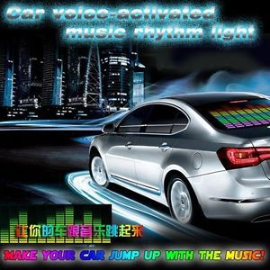 New Car Sticker Music Rhythm LED Flash Light Lamp Sound Activated Equalizer