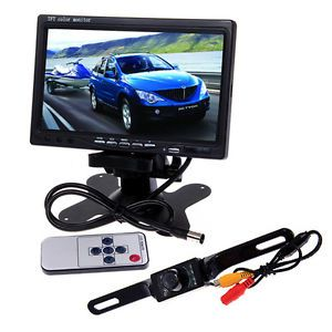 "7"" Car TFT LCD Color Monitor CMOS Reverse Car Rear View Backup Camera Kit"