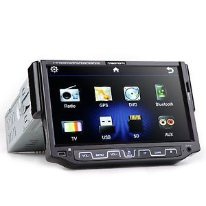Anti Thief Single 1Din 7'' LCD Digital Motorized USB Car DVD Stereo Radio Player