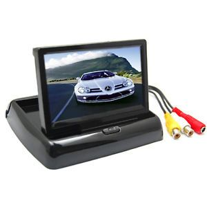 "4 3"" TFT LCD Screen Car Dashboard Rear View Camera Foldable Monitor"