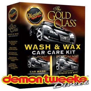 Meguiars Gold Class Wash Wax Car Care Kit Wax Shampoo Conditioner