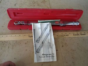 "Snap on Tools Lot Set 3 8"" TQFR100 Flex Head Torque Wrench Automotive Repair"