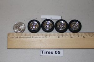 1 24 1 25 Scale Model Car Parts Chrome Mag Wheels Tires T5 WH29