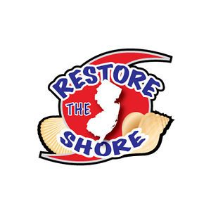 Restore The Shore New Jersey 5 inch Full Color Decal Sticker Car Window