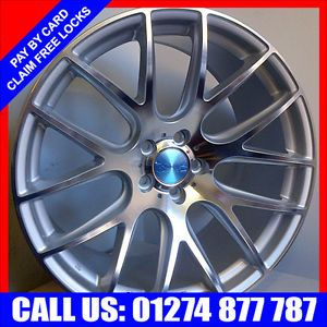 "20"" 3SDM Silver Staggered Alloy Wheels Audi A8 VW Golf Mercedes CL 20inch Alloys"