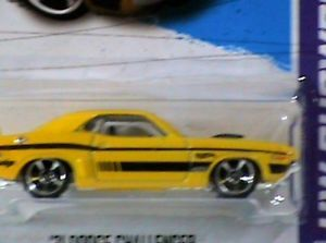 Hot Wheels '71 Dodge Challenger HW Showroom Yellow Black Stripes New Release