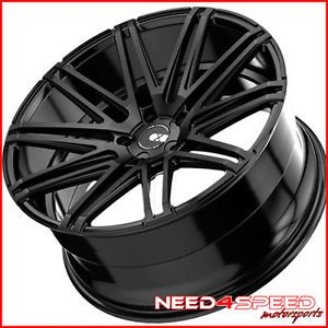 "20"" Acura TL XO Milan Matte Black Staggered Concave Wheels Rims"